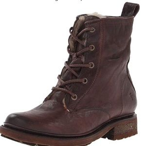 8ffdb8d64a7 Frye. Valerie shearling lined lace up boot.  100  448